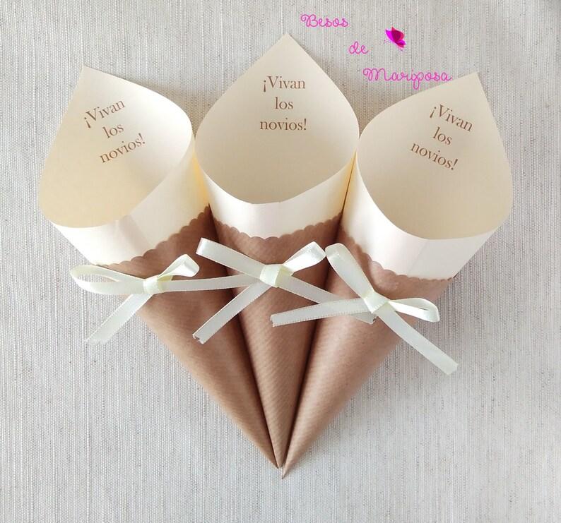 Cono para el arroz confeti o pétalos de boda cono confeti  2c5248a6538