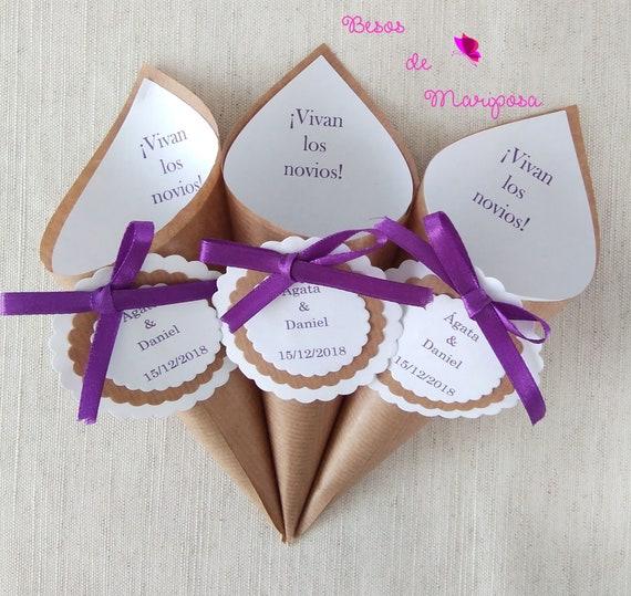 50 Blue paper cones Embossed paper cones Rose petal cones Openwork cones Confetti toss cones Wedding petal cones Tossing petal cones