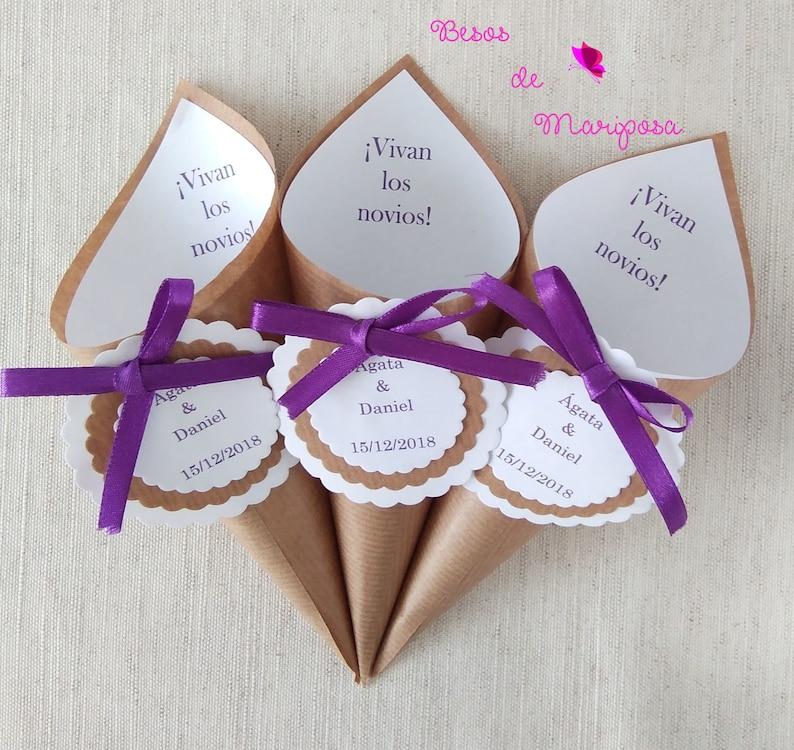 Conos para el arroz boda conos para confeti conos boda  101d315b581