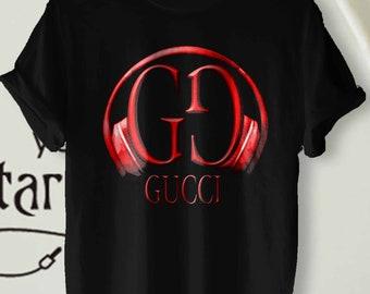 25aca12f Gucsi DJ Music Shirt, Top Print, Luxury Brand. Premium Quality Shirt Rare!