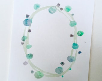 Customizable Bubble Wreath Watercolor Print