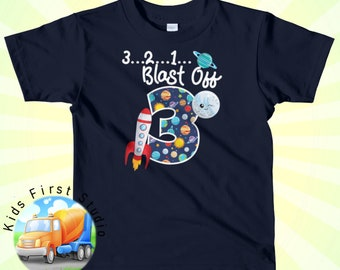 6th Birthday Space Rocket Toddler//Infant Kids T-Shirt Gift for Six Year Old