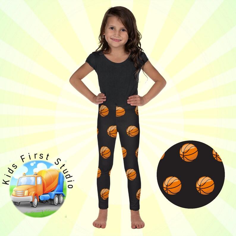f055dee509fbd Girls Basketball Activity Leggings Basketball Leggings For | Etsy