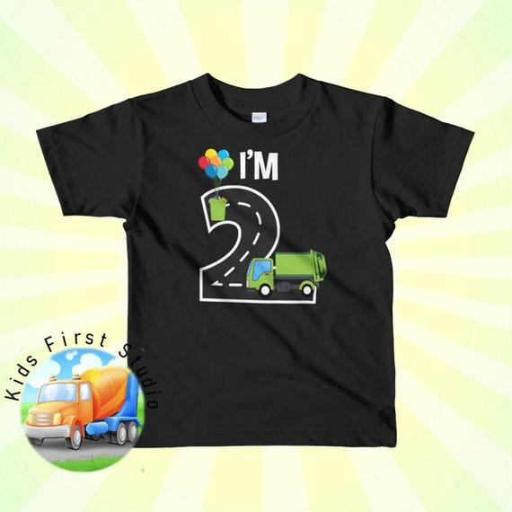 Love Garbage Trucks Unisex Youths Short Sleeve T-Shirt Kids T-Shirt Tops Black
