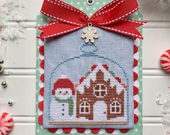DIGITAL PDF Pattern: Christmas in the Kitchen Gingerbread Cross Stitch by Luminous Fiber Arts