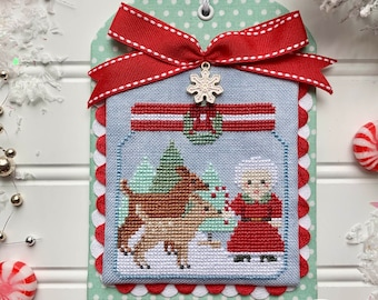 DIGITAL PDF Pattern: Christmas in the Kitchen Candy Canes Cross Stitch by Luminous Fiber Arts