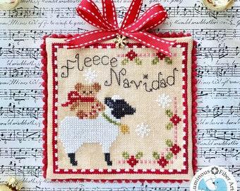 DIGITAL PDF Pattern: Fleece Navidad Cross Stitch by Luminous Fiber Arts