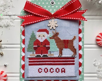 DIGITAL PDF Pattern: Christmas in the Kitchen Cocoa Cross Stitch by Luminous Fiber Arts