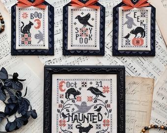 DIGITAL PDF Pattern: Haunted Cross Stitch by Luminous Fiber Arts