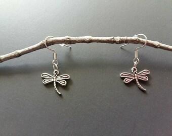 Cute little earrings dragonfly