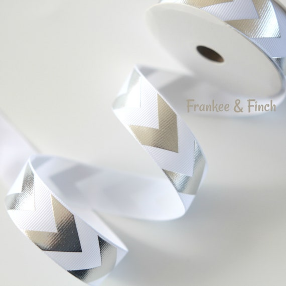 2 Metres 22mm wide Chevron Ribbon