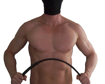 Cane with rubber sheathed-heavier + hard spanking cane
