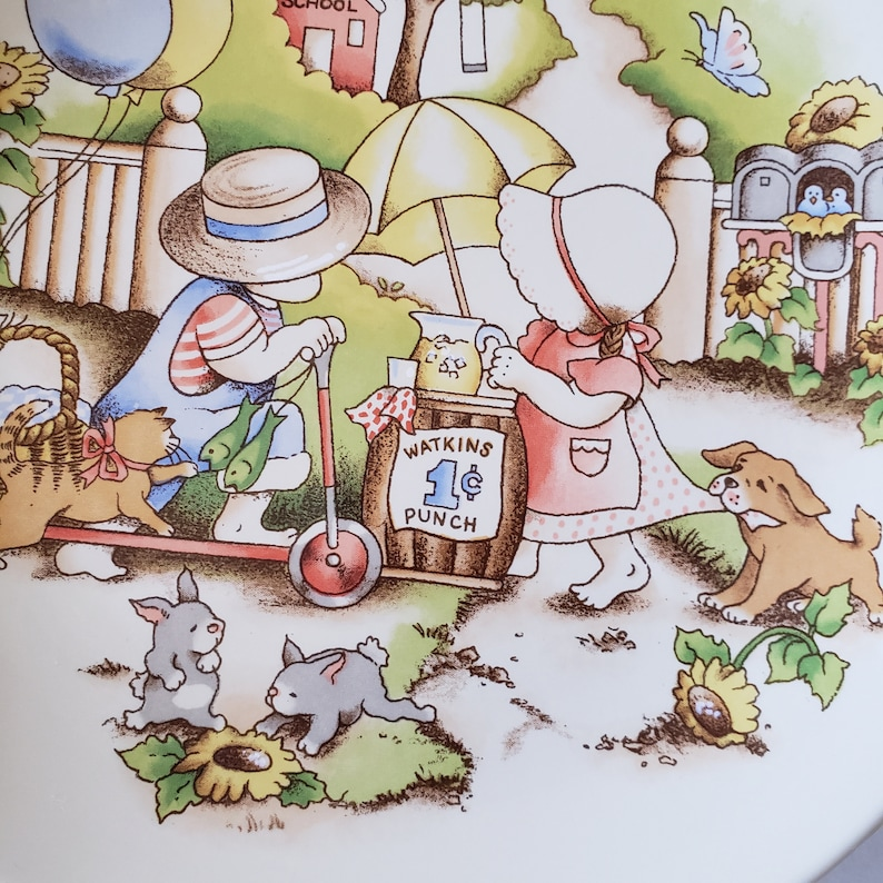 Country Kids Collector's Dessert Plate Good Friends are Forever 1991