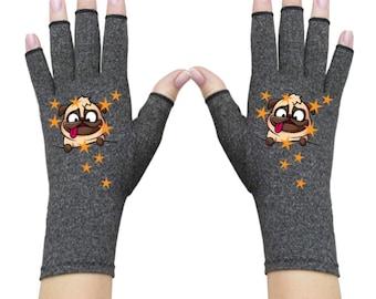 Fingerless Gloves for Women - Arthritis Gloves - Texting Gloves - Arthritis Relief - Driving Gloves - Compression Gloves - DizzyPug