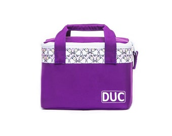 DUC cooler sheep, lunch bag, children's lunch bag, children's cooler bag, purple cooler bag, purple cooler, insulated bag
