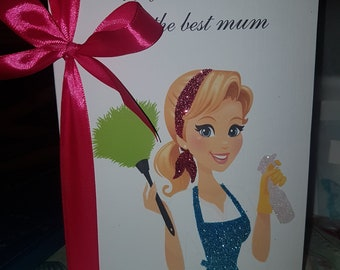 Cleaning Lady Personalised Card
