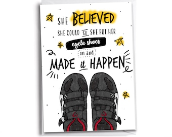 SHE BELIEVED she could - CYCLE   Peloton-Inspired Card