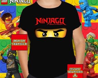 22f40489b688 Ninjago Eyes Birthday Iron On Transfer, Ninjago Eyes Sublimation Design,  Ninjago Eyes Birthday T-shirt, Printable 300 dpi, Digital File