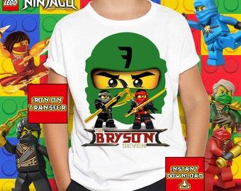 0f0eecb44406 Ninjago Birthday Iron On Transfer, Ninjago Sublimation Design, Ninjago  Birthday T-shirt, Printable 300 dpi, Image Transfer, Digital File