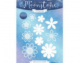 Hunkydory Moonstone Dies Lattice and Snowflakes Frame Selection of Trellis
