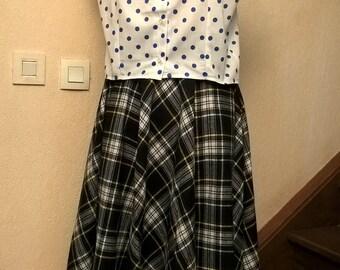 77c66e74bc3077 Jupe Femme,jupe Vintage,tissu écossais à carreaux,Made in France,jupe  fille,cadeau vintage,cadeau femme,cadeau fille,vêtements femme, fille