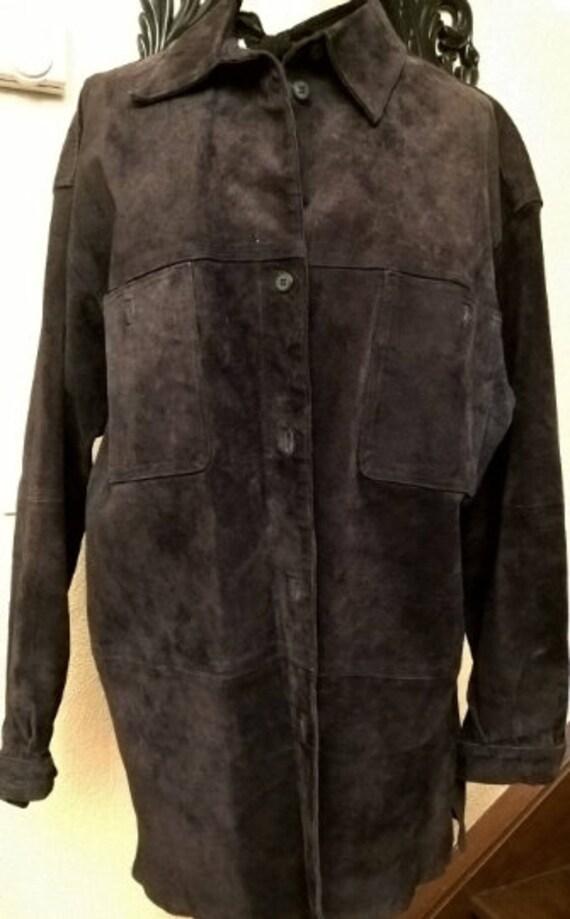 Men's jacket, brown suede, PACIFIC brand, vintage