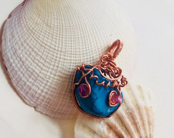 Wire wrapped Turquoise