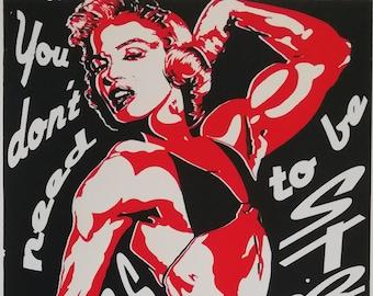 limited edition silkscreen printing! Muscular woman