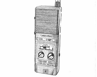 illustration dotart - radio stranger things - semper fi - the pika