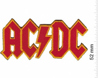 3f0c6b2a7c486 AC DC ACDC - red Power - Rock Pop - Metal band Embroidered Patch Iron-On  Applique Outdoors Music Logo Souvenir Accessory