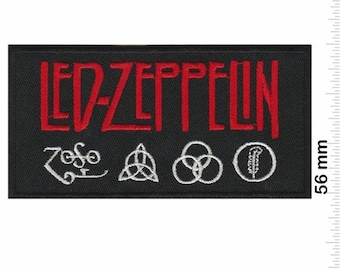 Led Zeppelin Band Logo Iron On Patch Badge Rock Music Icarus Zoso Stairway To