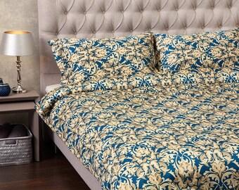 LUXURY SATIN BEDDING. Set Of Satin Duvet Cover And Pillowcases Bedding Set. King Duvet Cover Double Duvet Cover Single Duvet Cover