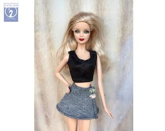 fc25abbc5d Barbie denim skirt - Falda vaquera Barbie - Jeans Barbie