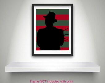 Freddy Krueger Print Nightmare on Elm St