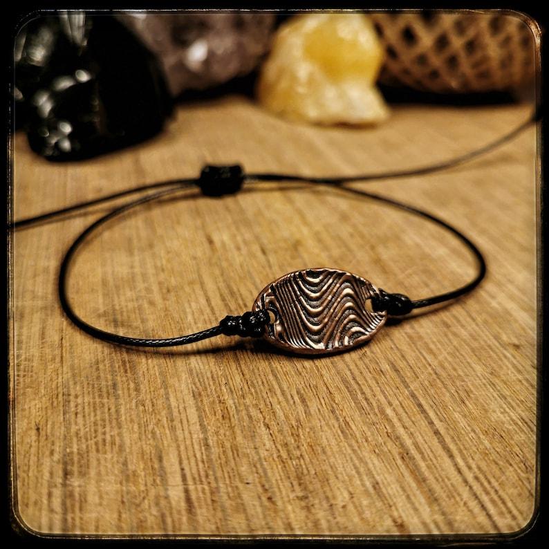 Psychedelic copper coin bracelet