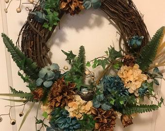 Blue Bird Wreath