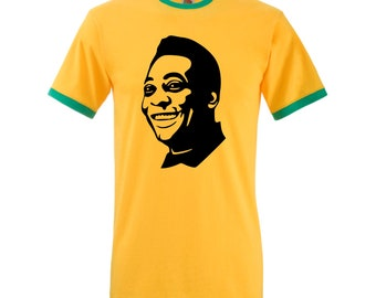 3dfedc472 Pele Brazil Retro T-Shirt Football Legend Soccer Star