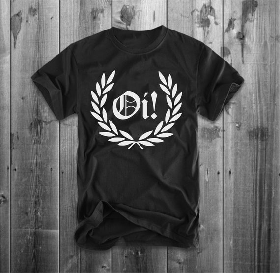 Oi Punk Rock Skinhead Skinhead Laurel Leaves T-Shirt New Wave Free Delivery