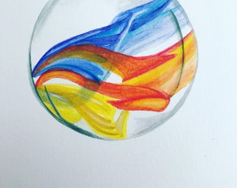 Rainbow Swirl Marble