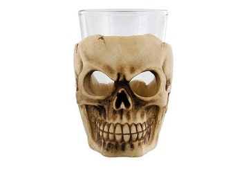 Personalised skull shot glass