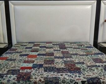 Beautiful handmade kantha quilt