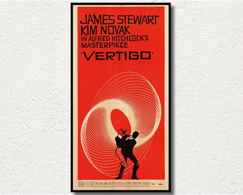 Alfred Hitchcock Masterpiece Wall Art Cinema Vintage 1958 Vertigo Movie Poster