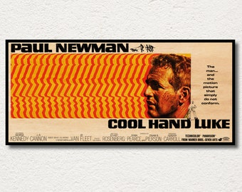 Cool Hand Luke WOODEN wall art poster, Handmade special edition movie poster, Unique gift for Paul Newman fans, Unique posters and prints