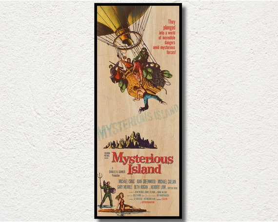 Master of the world Jules Verne cult movie poster print