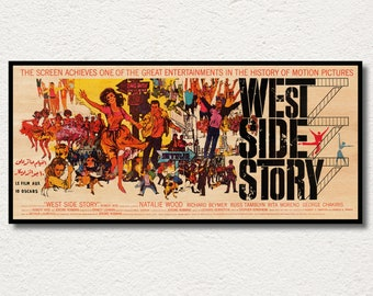 West Side Story WOODEN poster, Premium special edition poster printed on WOOD, Stunning gift for musical film addicts and cinema enthusiasts