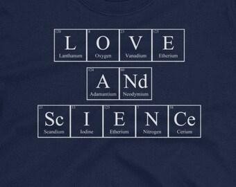 Love & Science (M) elements men's T-Shirt