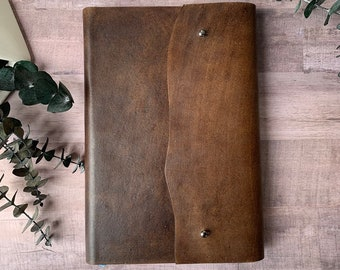 Custom brown leather KJV, ESV, or NIV Bible