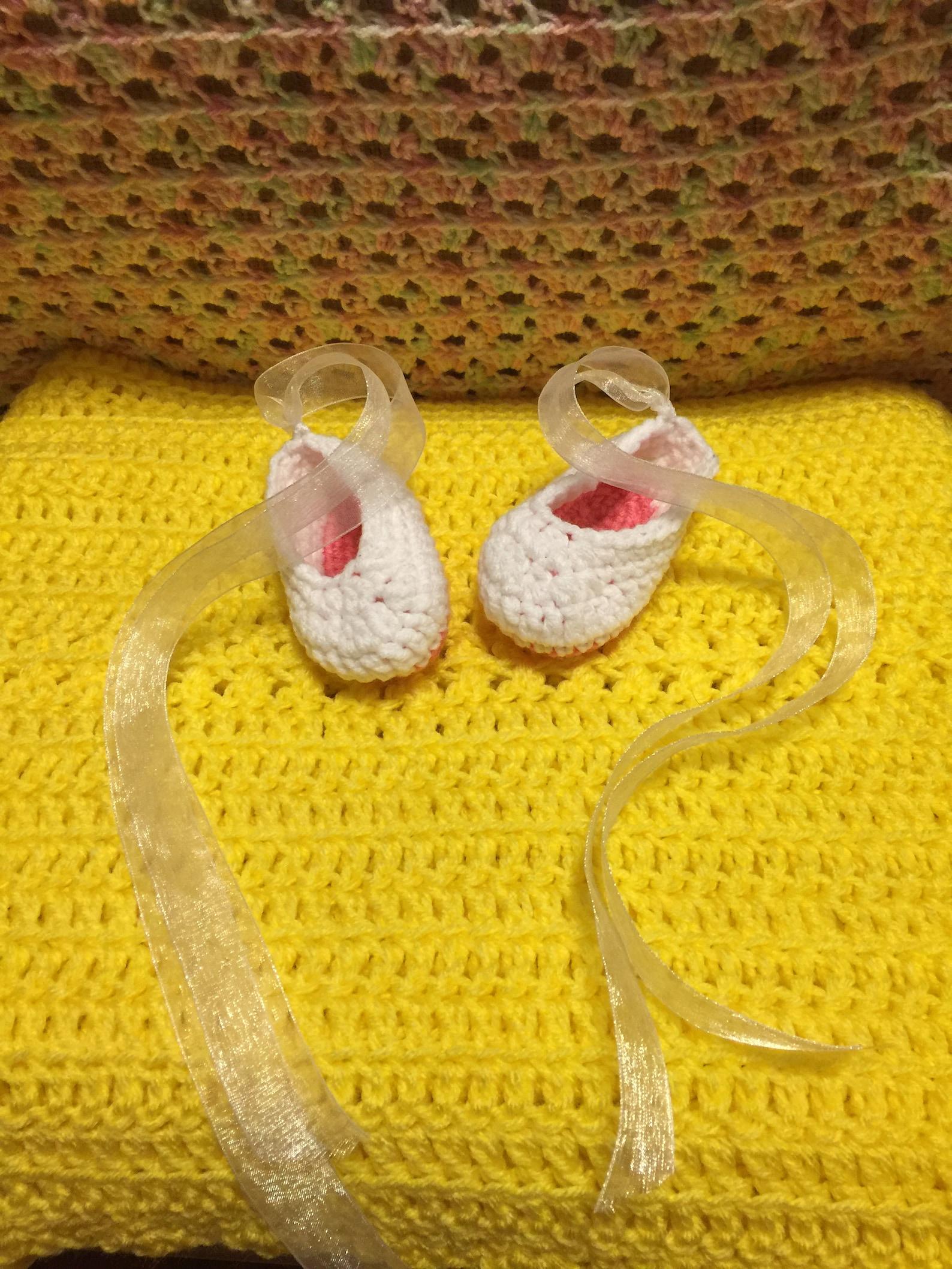 newborn crochet ballet slippers