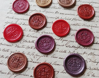 Set of 12 stamps of various colors vintage Crest craft wax