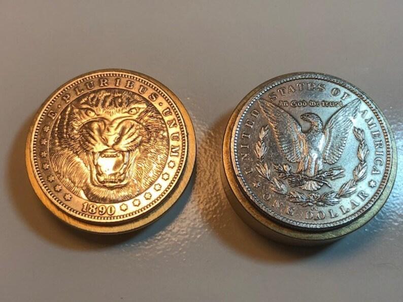 Snuff Box Stash Box  Canadian Made Tiger Coin Pill Box